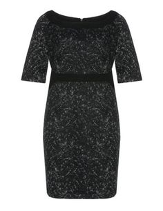 Shift cotton dress in Anthracite / Ivory-White designed by Manon Baptiste to find in Category Dresses at navabi.de