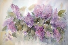 Spring Flowers Wallpaper, Flower Background Wallpaper, Flower Backgrounds, Lilac Painting, Hydrangea Painting, Watercolor Artists, Watercolor Flowers, Watercolor Paintings, Watercolours
