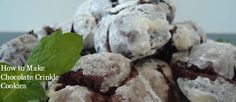 How to Make Chocolate Crinkle Cookies - great all year round!