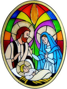 Beautiful design with great colours and a really effective stained glass effect showing a classic Nativity scene. Max Size - x Glass Painting Patterns, Stained Glass Patterns Free, Glass Painting Designs, Stained Glass Designs, Christmas Nativity Scene, Christmas Art, Christmas Images, Nativity Scenes, Christmas Drawing
