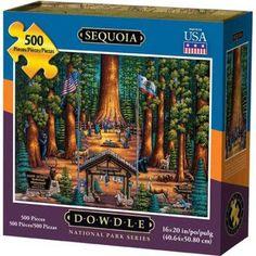 Dowdle Jigsaw Puzzle - Sequoia National Park - 500 Piece, Multicolor