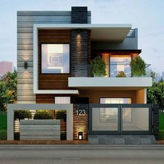 Modern House Exterior Inspirations about Home Decorations, Garden, Interior Design, Architecture, etc.By Posted on April House Exterio Modern Exterior House Designs, Modern Tiny House, Dream House Exterior, Exterior Design, Exterior Colors, Modern Design, Exterior Paint, Facade Design, Modern House Facades