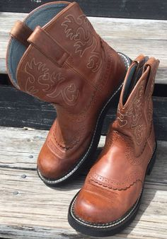 Womens Ariat FatBaby Saddle Boots Booties size 9B in Clothing, Shoes & Accessories, Women's Shoes, Boots | eBay