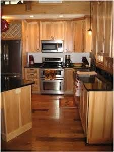 Custom Hickory Kitchen Cabinets and Island with Granite Countertops ...