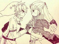 The Legend of Zelda | Sketch Link and Zelda