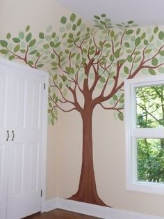 Creating A Simple Nursery Mural I Just Wanted To Share A Few Steps On How I  Created The Above Simple Nursery Mural Trees.