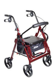 Drive Medical Duet Transport Wheelchair Rollator Walker, Burgundy Drive Medical http://www.amazon.com/dp/B001FWY1JI/ref=cm_sw_r_pi_dp_FjC9vb0SF59FK