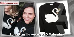 Want to know where Lana Parrilla got her sweater from on Twitter? Style on Screen can tell you!