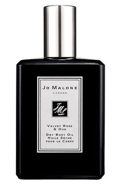 Free shipping and returns on Jo Malone London Jo Malone™ 'Velvet Rose & Oud' Dry Body Oil at Nordstrom.com. Indulge in the textural and decadent scent of Velvet Rose and Oud, bottled as a moisturizing dry body oil. The intense fragrance mixes notes of dark, rich damask rose wrapped with smoky oud wood and spiked with clove.