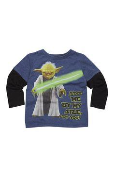 "Marineblaues ""Yoda"" T-Shirt"
