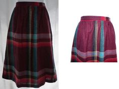 vintage Wool Plaid Midi skirt by TanJay  Size by CommonCentsThrift, $15.00