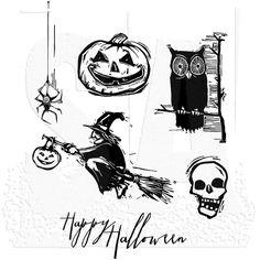 Resultado de imagen de tim holtz tombstone halloween stamp