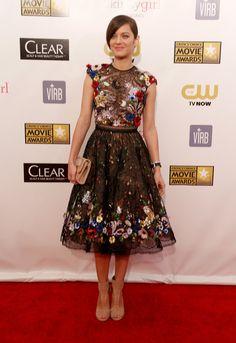 Marion Cotillard in Zuhair Murad on the Critics' Choice Awards Red Carpet!