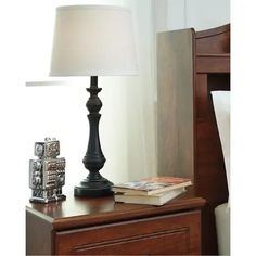 Signature Design By Ashley - Kian Table Lamp Bathroom Shop, Color Pairing, Home Entertainment, Signature Design, Drum Shade, Cottage Chic, Plymouth, Bedroom Furniture, Lamps