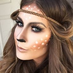 Are you looking for ideas for your Halloween make-up? Browse around this site for scary Halloween makeup looks. Deer Costume Makeup, Deer Halloween Makeup, Deer Makeup, Halloween Makeup Looks, Diy Halloween Costumes, Scary Halloween, Bambi Makeup, Teen Costumes, Woman Costumes