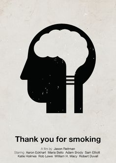 'Thank you for smoking' pictogram movie poster by Viktor Hertz, via Flickr