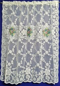 "Quaker Lace White Serenity 57"" x 63"" Lace Panel"