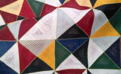 bojagi-quarter-square-triangles by Youngmin Lee (silk) Bojagi is Korean wrapping fabric