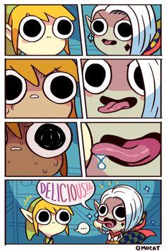 omocat legend of zelda comics