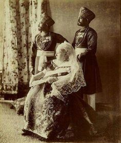 Queen Victoria of the United Kingdom with Hafiz Mohammed Abdul Karim and Mohammed Buksh.A♥W