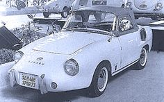 Subaru Sports, 1960. A small, rear-engined sports car based on the Subaru 360 Kei car