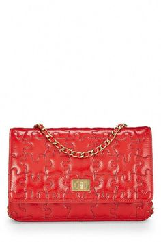 77935d8c0299 What Goes Around Comes Around Red Patent Leather Reissue Puzzle Wallet On  Chain (Woc) - Chanel