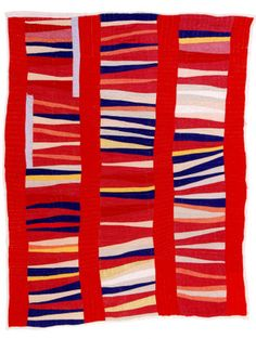 i love the gees bend quilts, loud color, funky lines