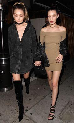 Gigi & Bella Hadid Street Style