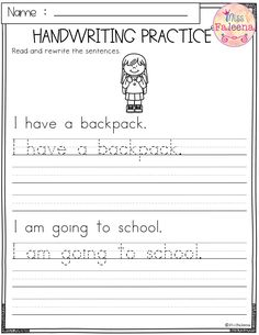 This product has 25 pages of handwriting worksheets. This product will teach children reading and writing simple sentences. Children will read, trace, and rewrite sentences. Handwriting Practice Sentences, Cursive Writing Practice Sheets, Handwriting Worksheets For Kindergarten, Teaching Cursive Writing, Letter Worksheets For Preschool, Learn Handwriting, Writing Practice Worksheets, 1st Grade Writing, First Grade Worksheets