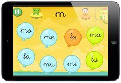 LEO CON GRIN Juego aprender a leer sílabas globos Grin Educaplanet by EB ipad aplicacion infantil #apps #letras #leer #educación #enlazada #Grin