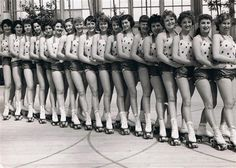 Group portrait of performers in Skaterscades outside the Winter Gardens, Great Yarmouth, 1951. Courtesy of Mr Caton