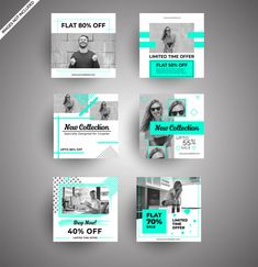Social media banners for digital marketing Premium Vector - BestGrap Social Media Ad, Social Media Banner, Social Media Branding, Social Media Template, Social Media Graphics, Branding Template, Instagram Design, Free Instagram, Social Media Design