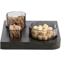 Arteriors Carlyle Tray ($480) ❤ liked on Polyvore featuring home, kitchen & dining, serveware, food, arteriors, beverage tray, drink tray and square tray