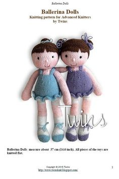Twins' Knitting Pattern MiniShop: Ballerina the Doll