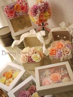 Bunny flower★   http://ameblo.jp/blog-charis/   http://www.rakuten.co.jp/bunny-flower/   プリザーブドフラワーリースpreserved Wreathパステルカラー
