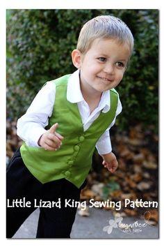 Vest Sewing Pattern - Boy & Baby PDF Tutorial, Reversible, by littlelizardking on Etsy.
