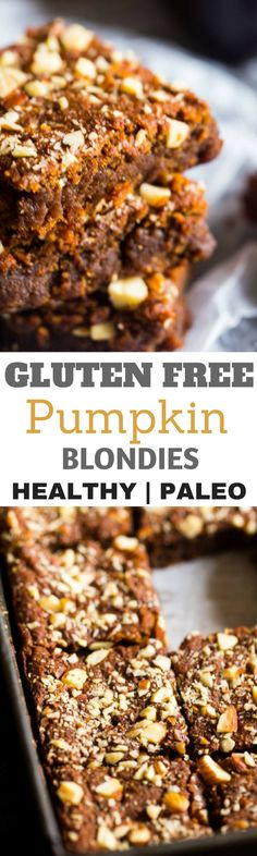 Thanksgiving desserts that are gluten free and paleo. Easy holiday treats for seasonal celebrations. Paleo Pumpkin Recipes, Gluten Free Pumpkin, Gluten Free Baking, Healthy Baking, Healthy Treats, Healthy Foods, Gluten Free Thanksgiving, Thanksgiving Desserts, Winter Desserts