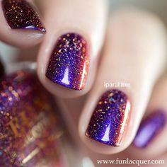 This glitter holographic purple nail polish is the perfect way to party it up with holiday nails. Fully opaque in 2-3 coats! Collection: Christmas 2015