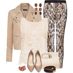 """""""Peach Lace & Leopard"""" by feelgood35 on Polyvore"""