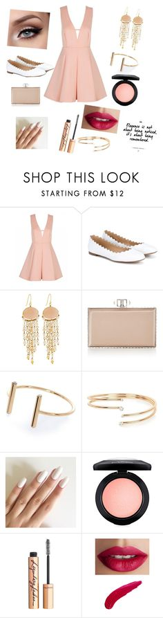 """""""Rose Gold"""" by cielofashion237 on Polyvore featuring Chloé, Panacea, Judith Leiber, River Island, MAC Cosmetics, Charlotte Tilbury and TheBalm"""