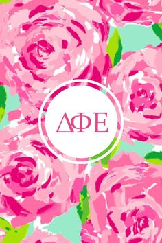 Delta phi epsilon Lilly iPhone monogram - remake with AOII