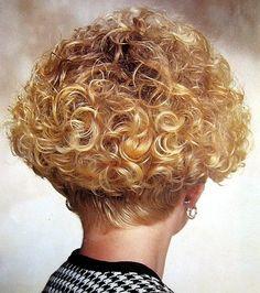Wedge Blonde Perm
