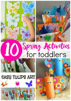 Are you ready for spring? If you're not, we've got plenty of activities to get you and your little ones there! These 10 spring themed crafts and activities are perfect for toddlers and preschoolers!