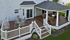 Trex Deck with Hip Roof, and Grill bump out