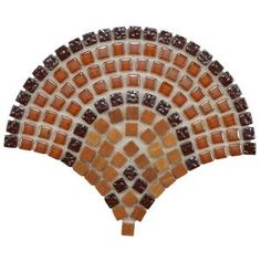 Merola Tile Tessera Arch Paprika 11-3/4 in. x 9-3/4 in. Glass/Stone Mosaic Wall Tile