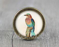 Bird  Handmade Vintage Bronze Dresser knobs cabinet door jade4wood