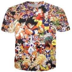 Plus Size S-5XL Women Men Designer 3D Print Dragon Ball Z Japanese anime T Shirt