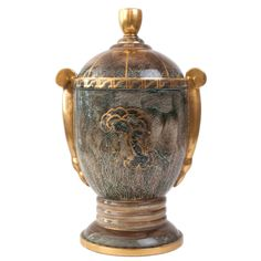 Very large Swedish Art Deco Covered Urn by Josef Ekberg, Gustavsberg | From a unique collection of antique and modern vases at http://www.1stdibs.com/furniture/dining-entertaining/vases/