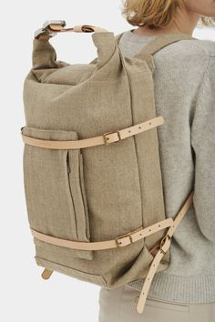 Read about Design & Production Handlebackpack has afront zipper pocket,leather base, two handles,two adjustable straps 68-85 cm,specially reinforced s