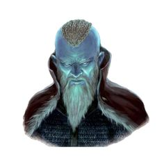 Male Frost Giant Magus Jarl Portrait - Pathfinder PFRPG DND D&D 3.5 5th ed d20 fantasy